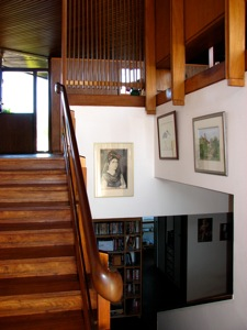 Stair case seen from the landing