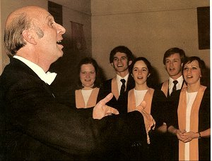 Philip McLachlan with the University Choir