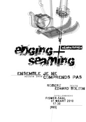 ÒKlanktitels /Edging & SeamingÓ  takes place in the Fismer Hall of the University of Stellenbosch Music Conservatorium at 17:30 on Monday 1 March and