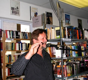 Louis Esterhuizen, poet and manager of Protea Bookshop